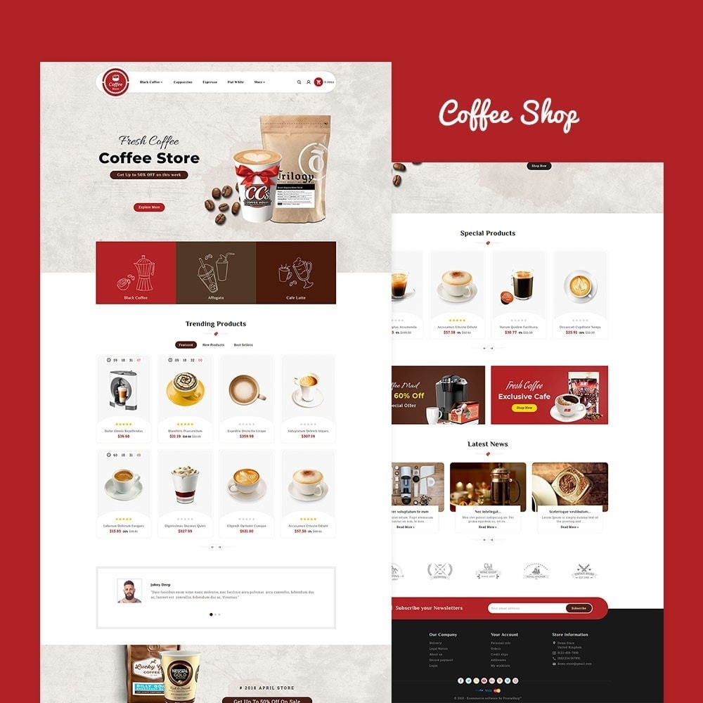 theme - Bebidas y Tabaco - Coffee & Drinks Store - 2