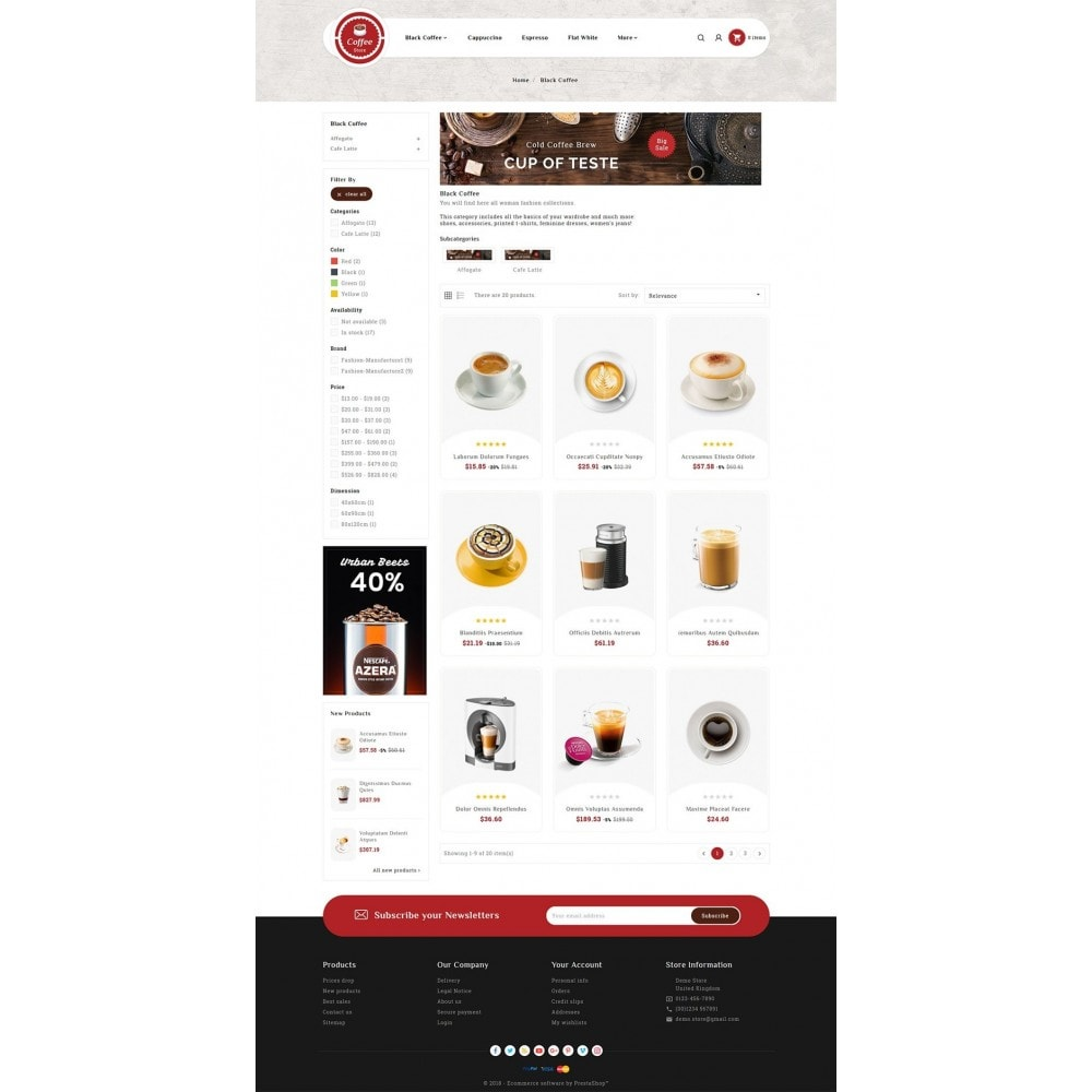 theme - Bebidas y Tabaco - Coffee & Drinks Store - 3