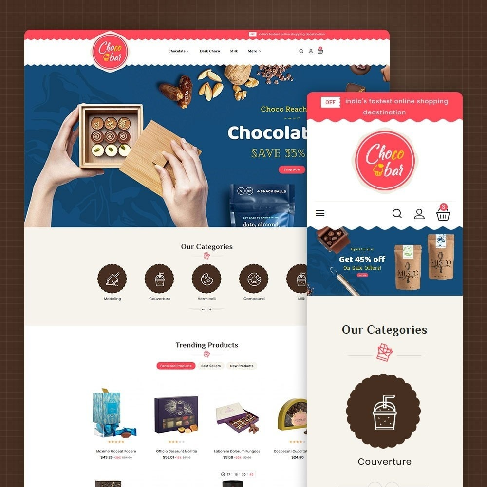 theme - Gifts, Flowers & Celebrations - Chocobar & Sweets - 1