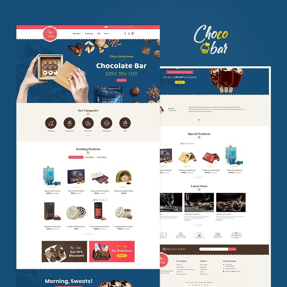 theme - Gifts, Flowers & Celebrations - Chocobar & Sweets - 2