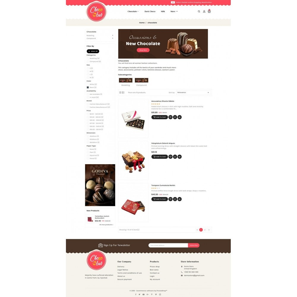 theme - Gifts, Flowers & Celebrations - Chocobar & Sweets - 4