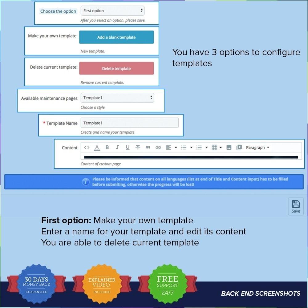 module - Personnalisation de Page - Page de maintenance personnalisée - 3