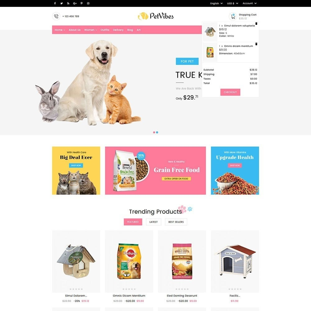 theme - Animals & Pets - Petvibes Pet Store - 3
