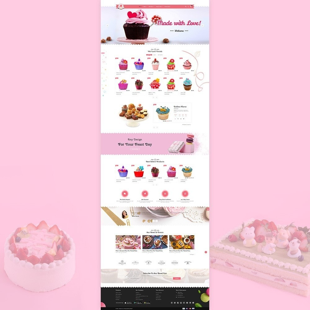 theme - Food & Restaurant - Cake Dream - Cake Store - 2