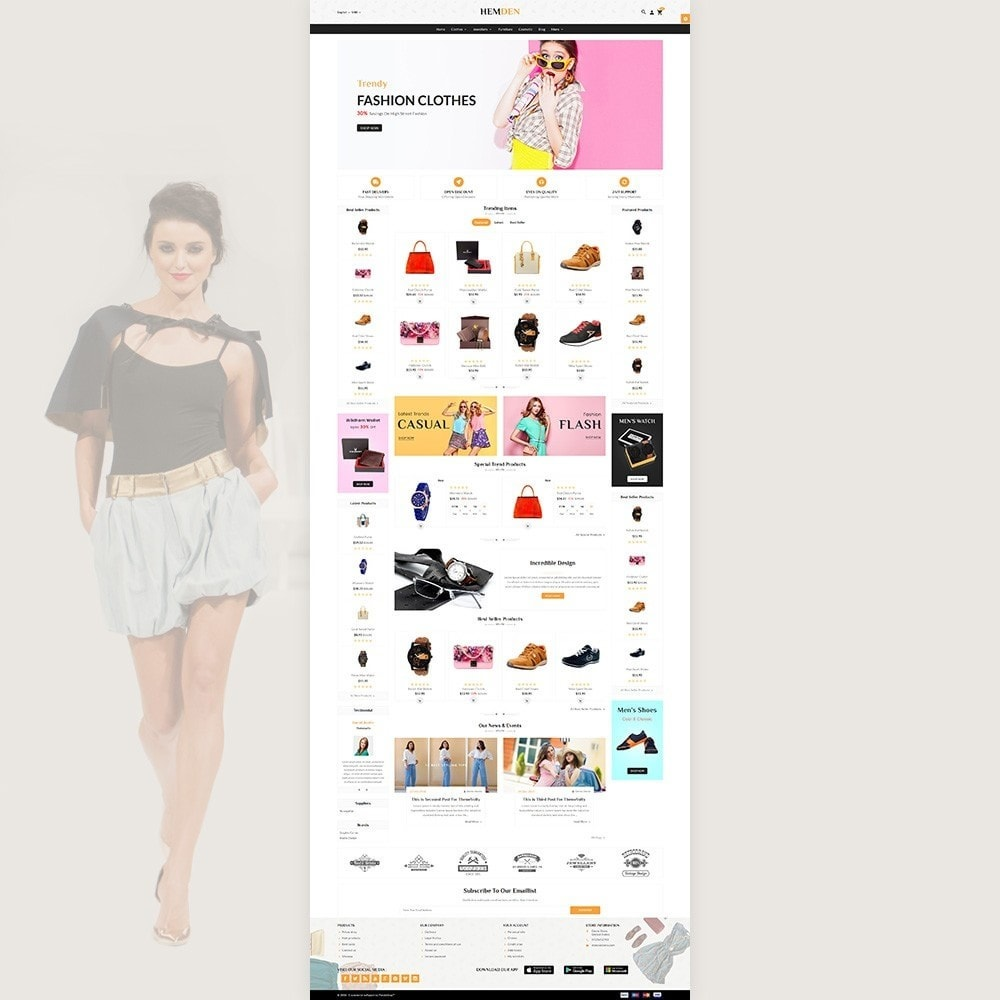 theme - Fashion & Shoes - HemDen - The Fashion Store - 2