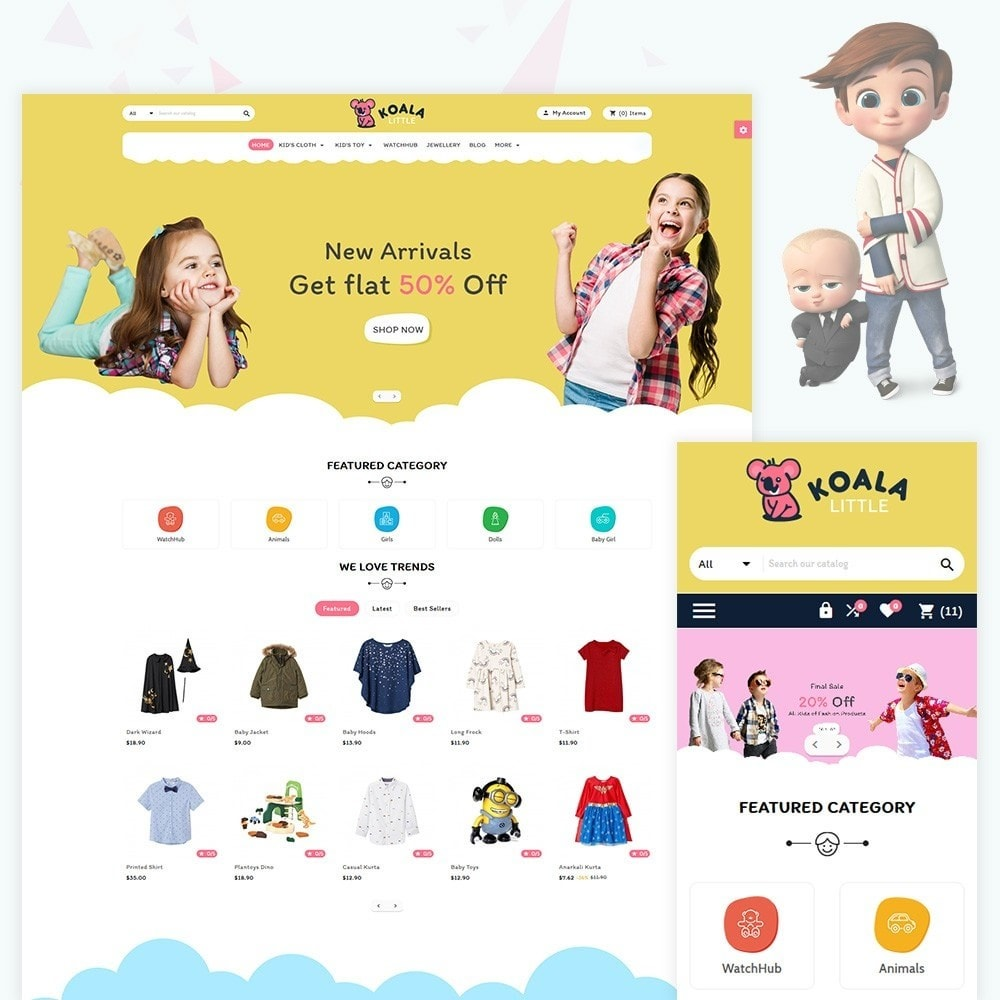 theme - Kinder & Spielzeug - Kola Little The Fashion and Kids Store - 1