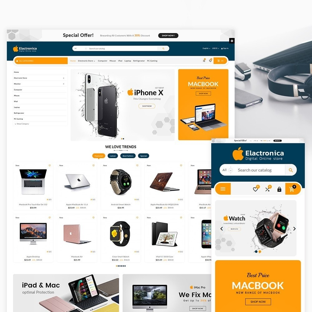 theme - Electronique & High Tech - Electronica – Electronic Multipurpose Store - 2