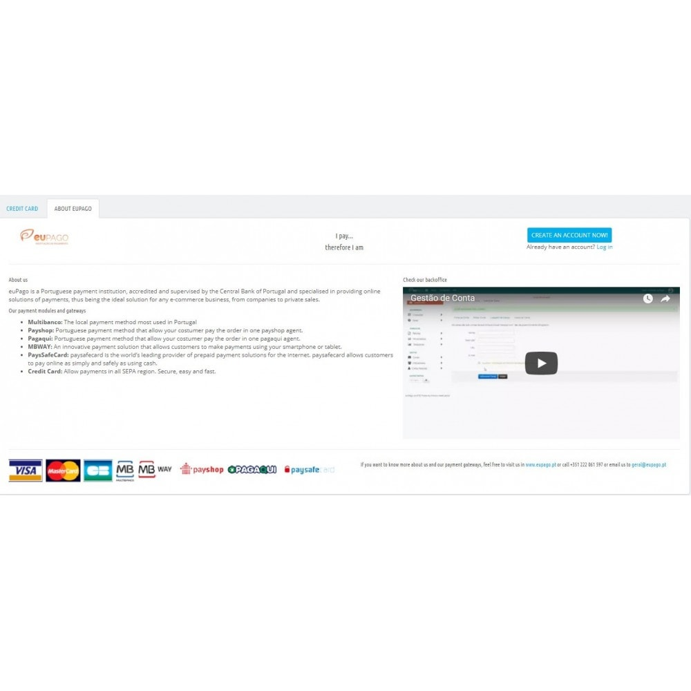 module - Payment by Card or Wallet - euPago - Credit Card - 3
