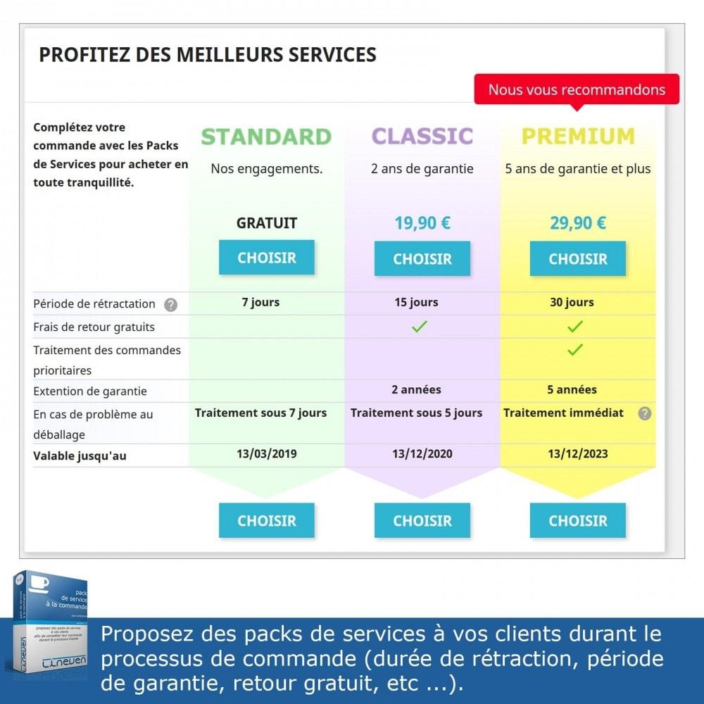 module - Ventes croisées & Packs de produits - Packs de services à la commande - 2