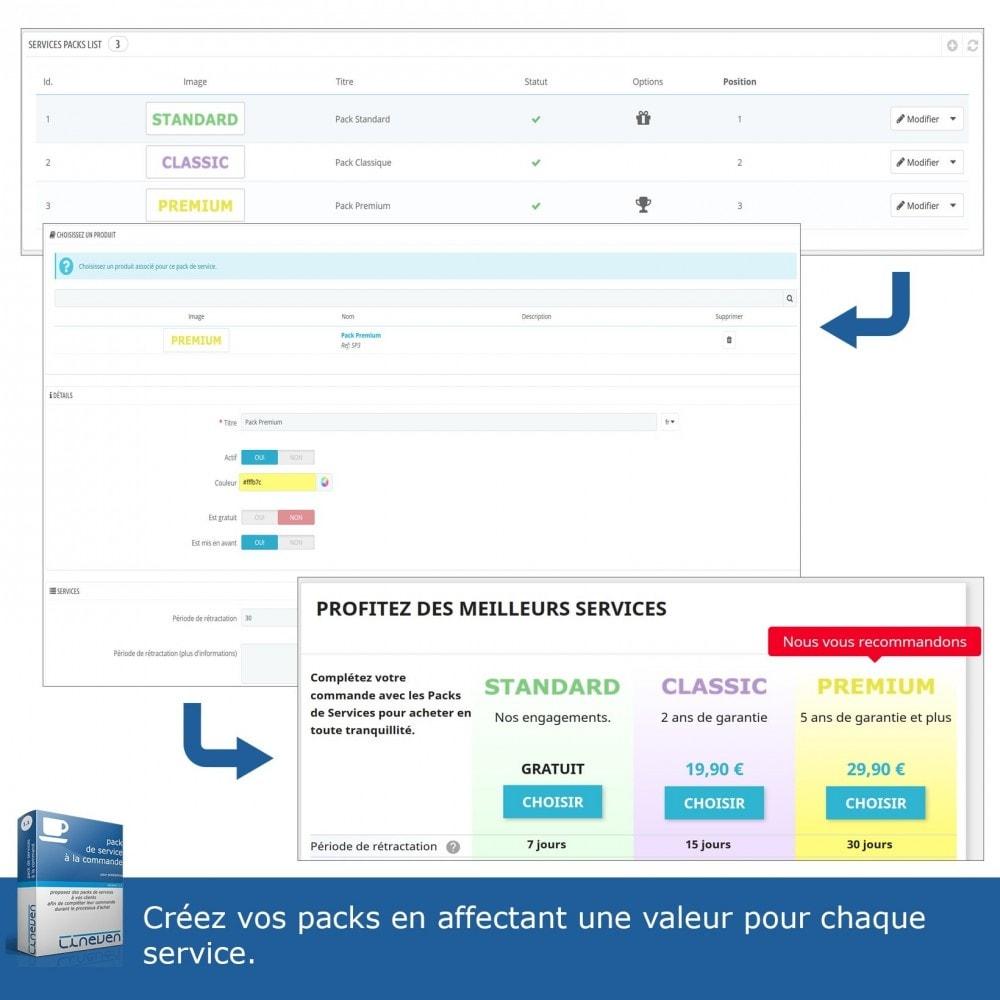 module - Ventes croisées & Packs de produits - Packs de services à la commande - 4