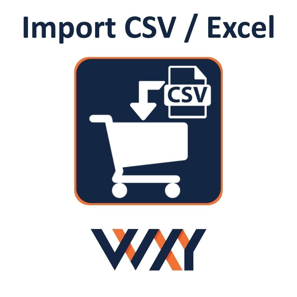 module - Import & Export de données - import panier CSV / Excel - 1