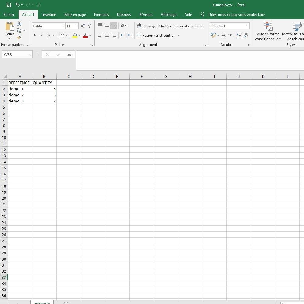 module - Import & Export de données - import panier CSV / Excel - 4