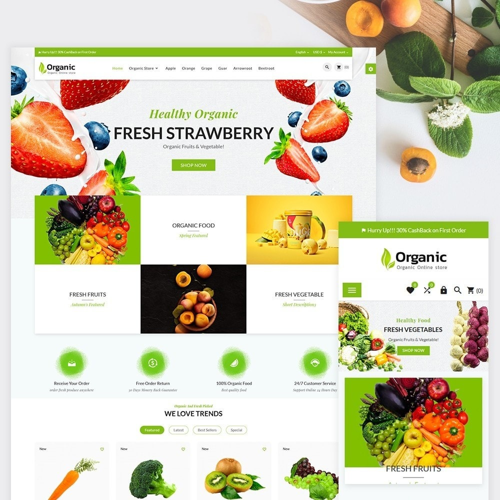 theme - Food & Restaurant - Organic Fresh Food Market Store - 2
