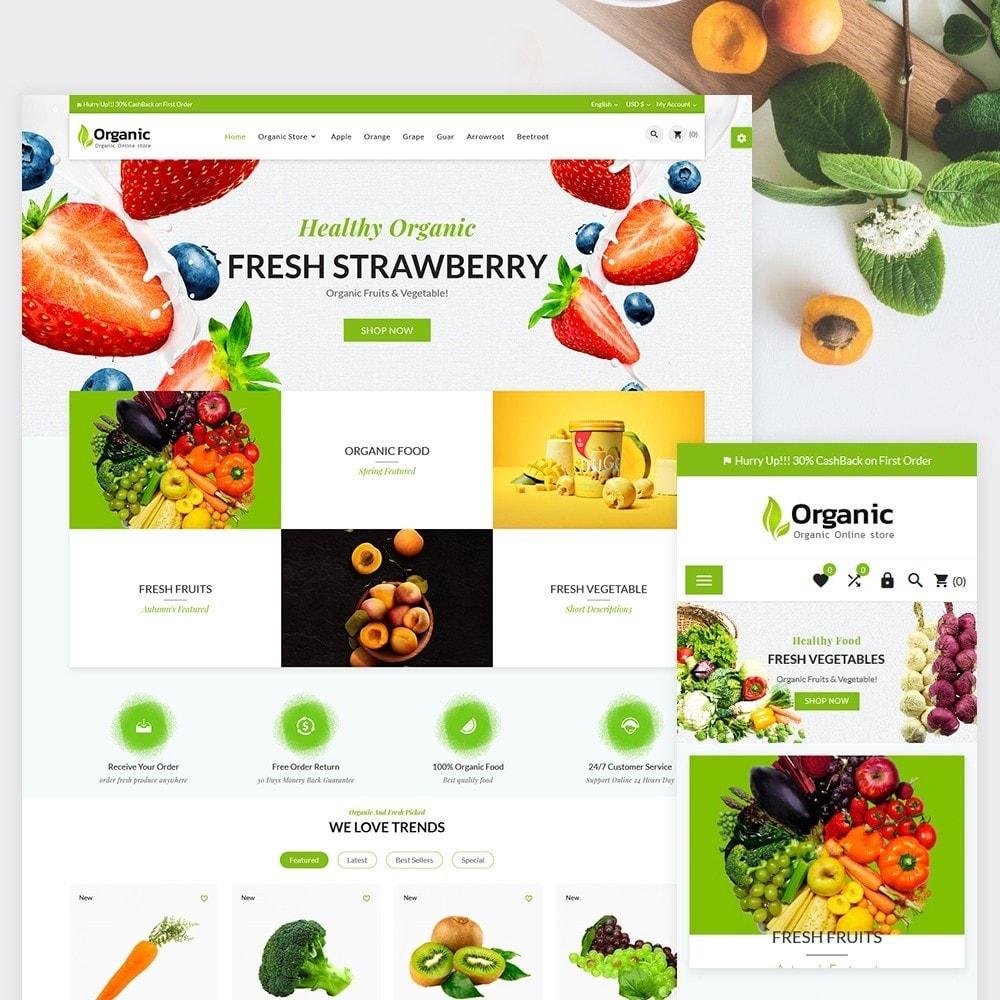 theme - Alimentos & Restaurantes - Organic Fresh–Food Grocery–Market Store - 1
