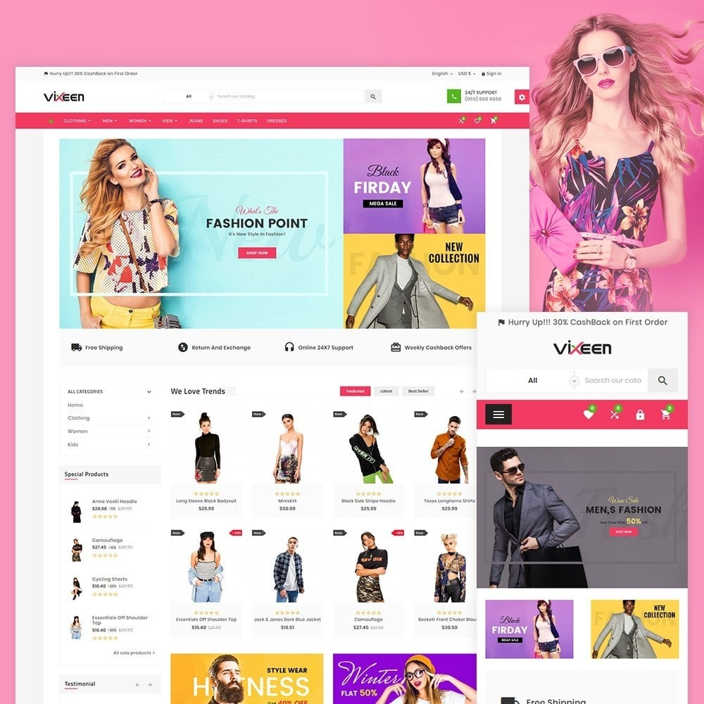 theme - Moda & Calçados - Vixeen Stylo Fashion Super Store v3 - 2
