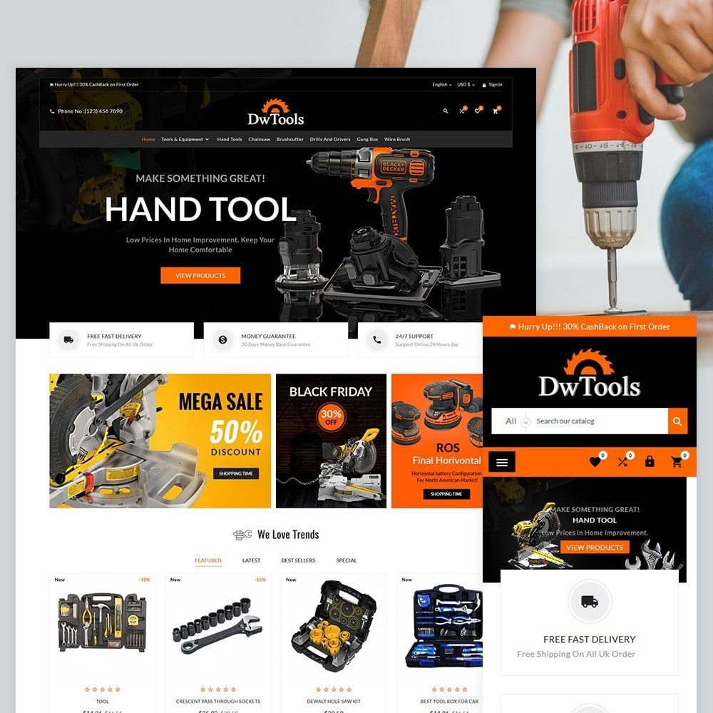 theme - Coches y Motos - DW Tools – Tools and Machine Super Store - 2