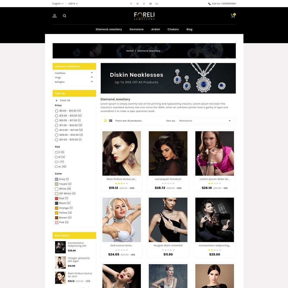 theme - Jewelry & Accessories - Foreli Jewellery Store - 3