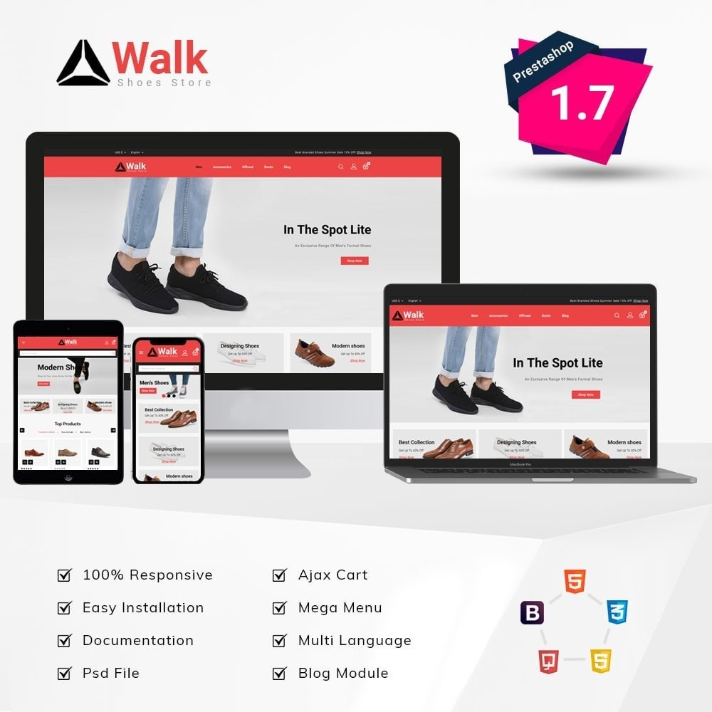 theme - Moda & Calçados - Walk Shoes Store - 1