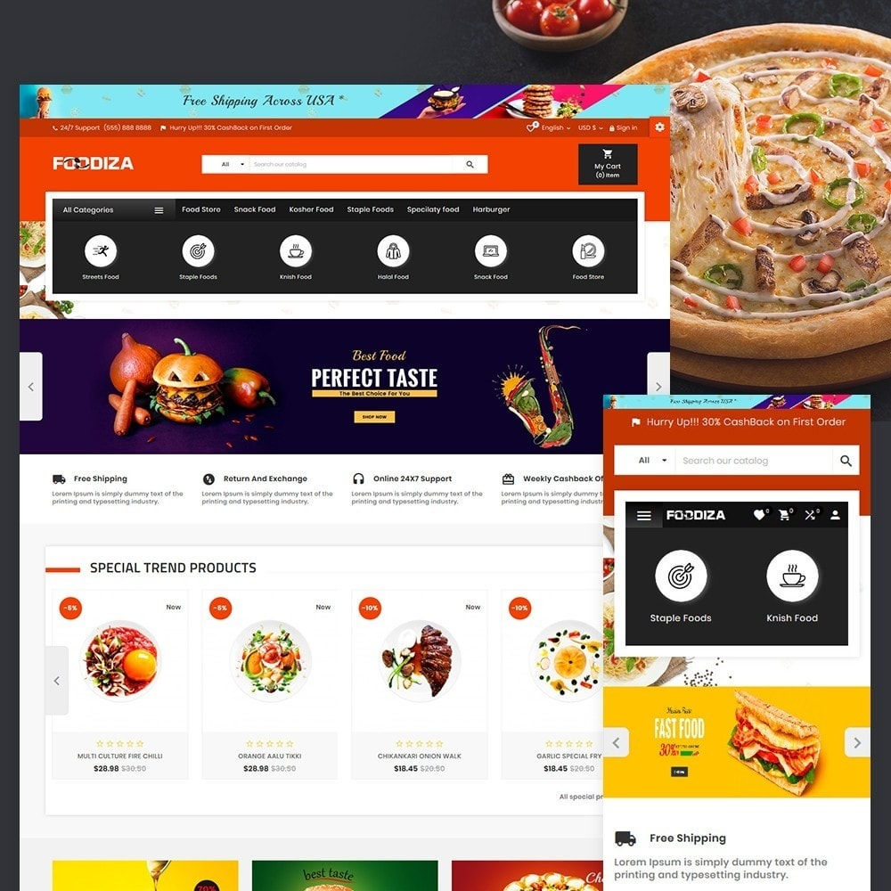 theme - Alimentos & Restaurantes - Foodza Fast Food Super Store - 2