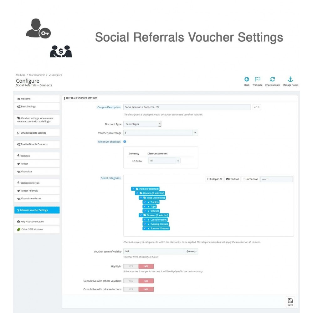 module - Social Rewards & Coupons - Social Referrals + Connects (3 in 1) - 38