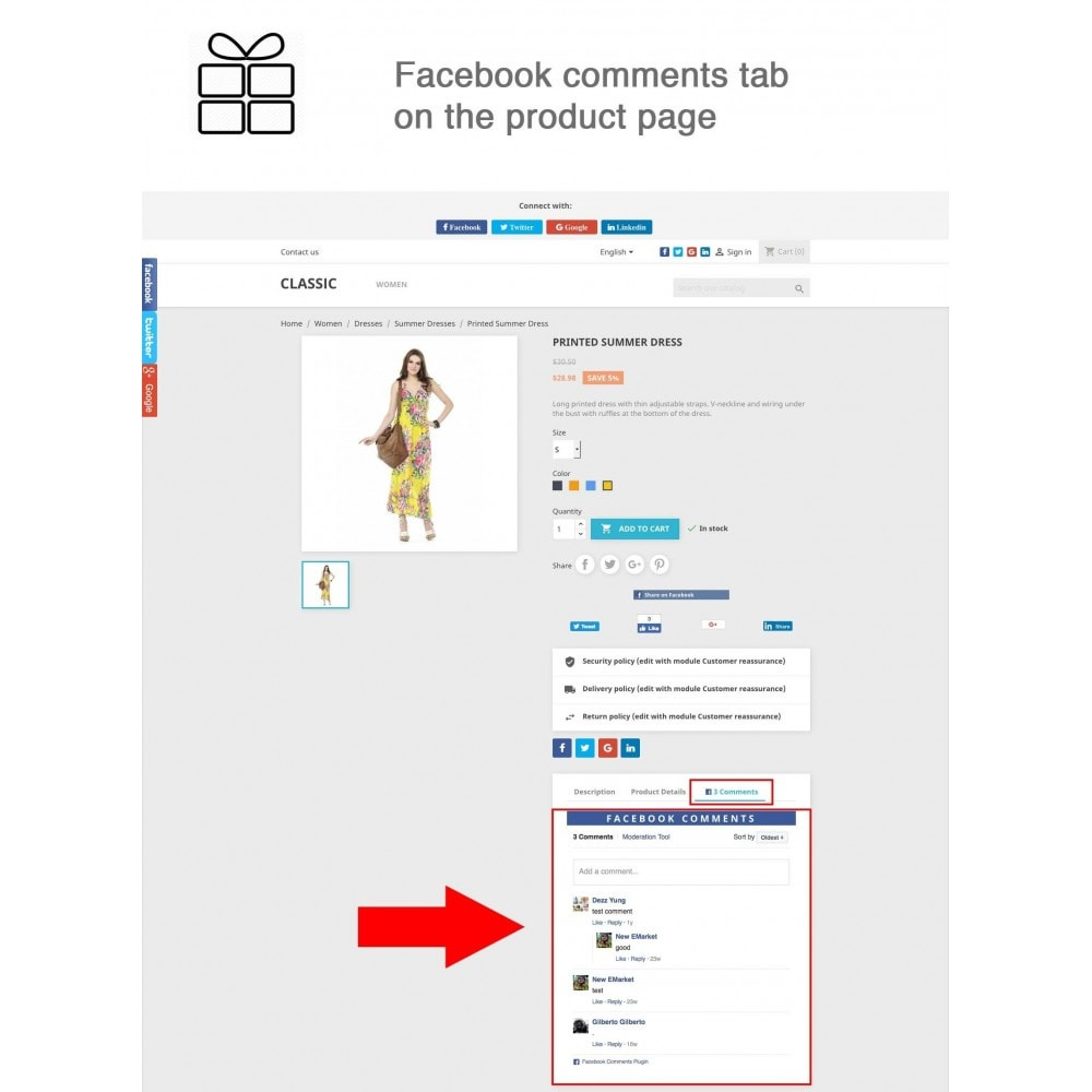 module - Deelknoppen & Commentaren - Full Pack for 4 Social Networks + Statistics - 2