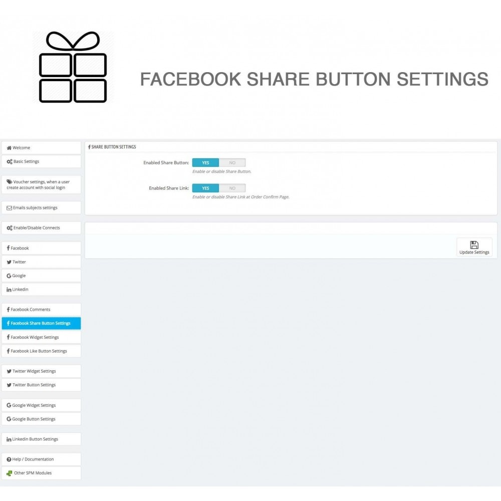 module - Share Buttons & Comments - Full Pack for 4 Social Networks + Statistics - 32
