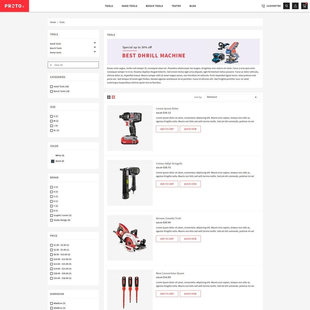 theme - Automotive & Cars - Proto Tools Shop - 4