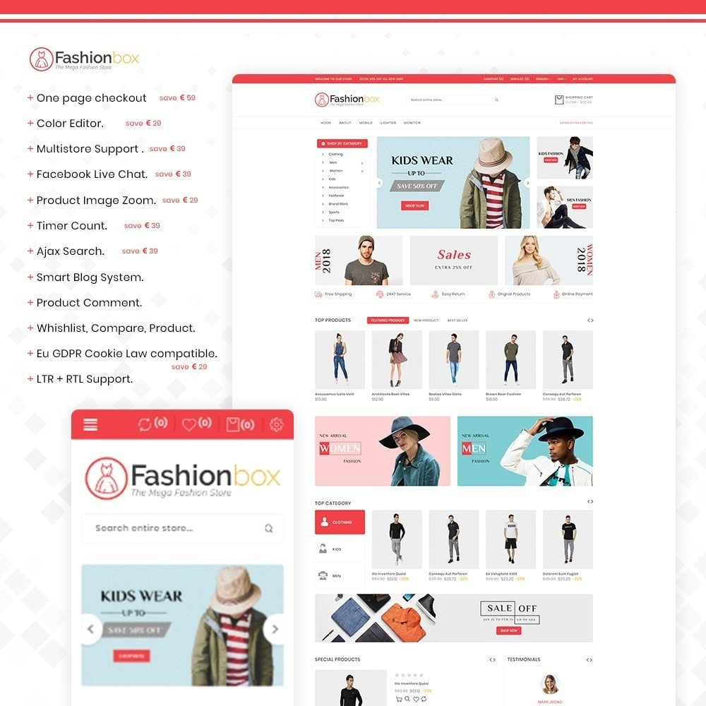 theme - Fashion & Shoes - Fashionbox - The fashion & clothing store - 1
