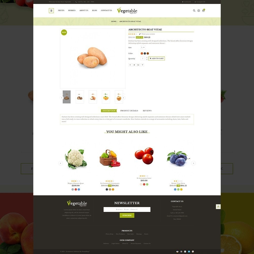 theme - Food & Restaurant - Vegetable – Multipurpose Vegetable Store - 13