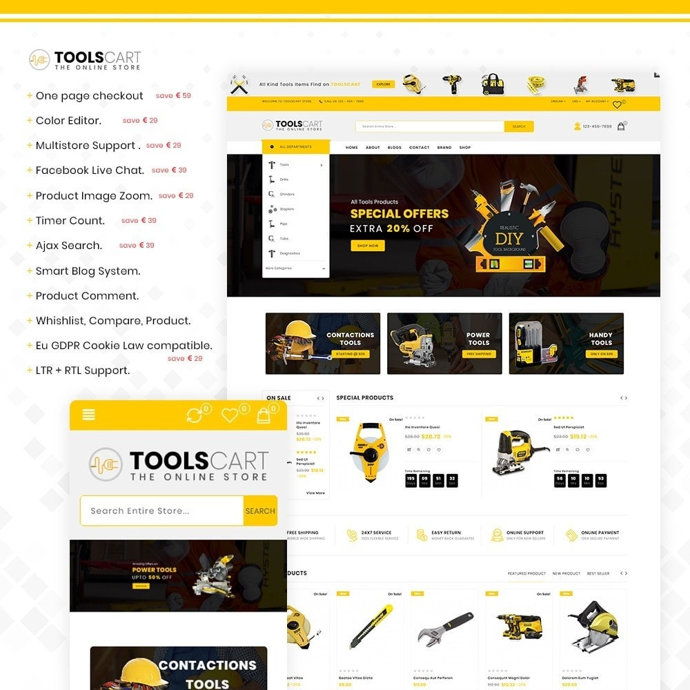 theme - Coches y Motos - Toolscart - Mega Tools Store Template - 1