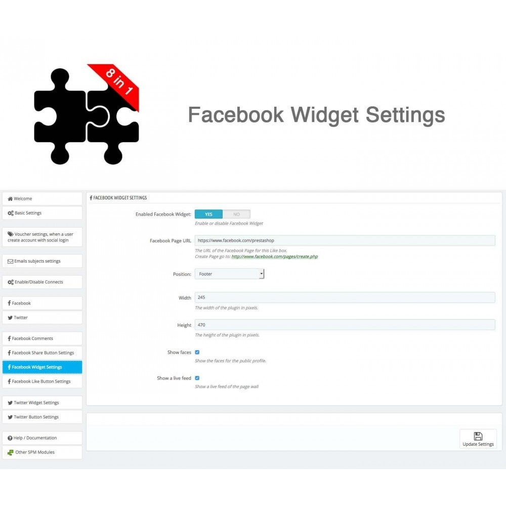 module - Compartir contenidos y Comentarios - Social Connects and Plugins + Statistics (8 in 1) - 30