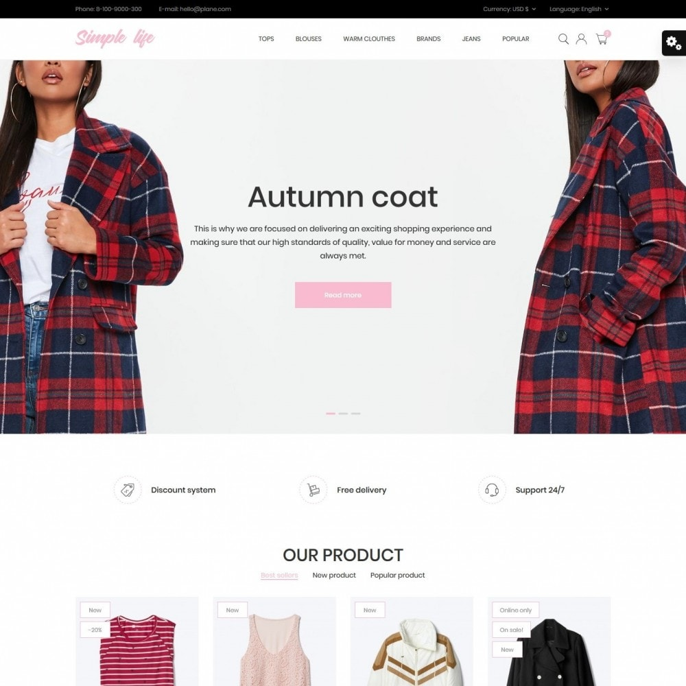 theme - Fashion & Shoes - Simple life Fashion Store - 2