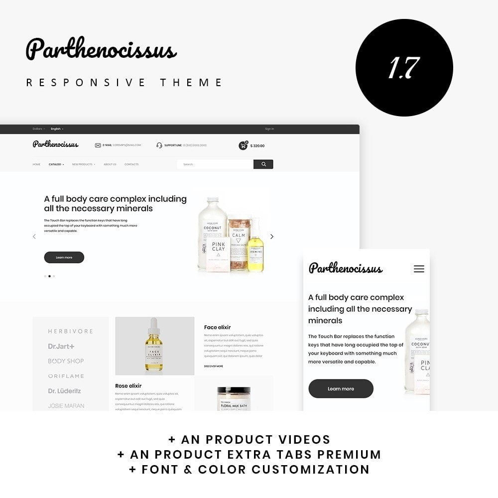 theme - Health & Beauty - Parthenocissus Cosmetics - 1