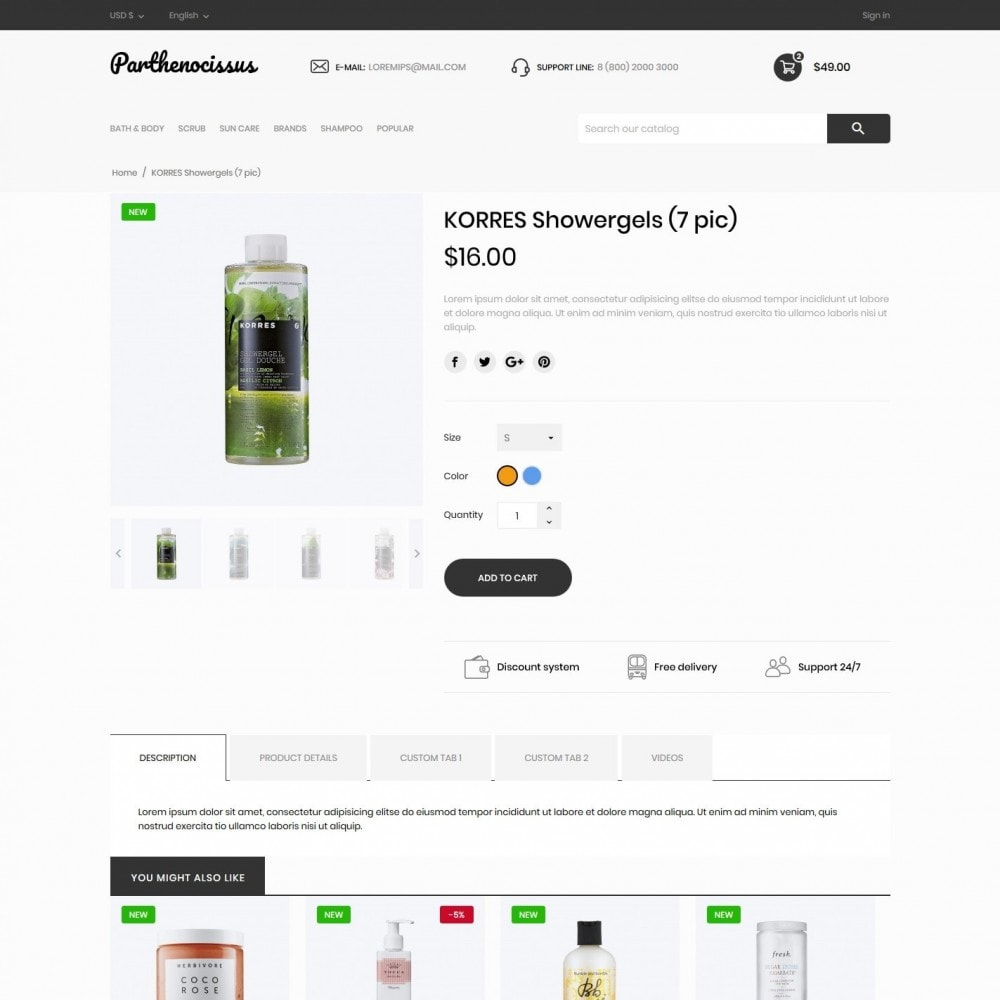 theme - Health & Beauty - Parthenocissus Cosmetics - 6