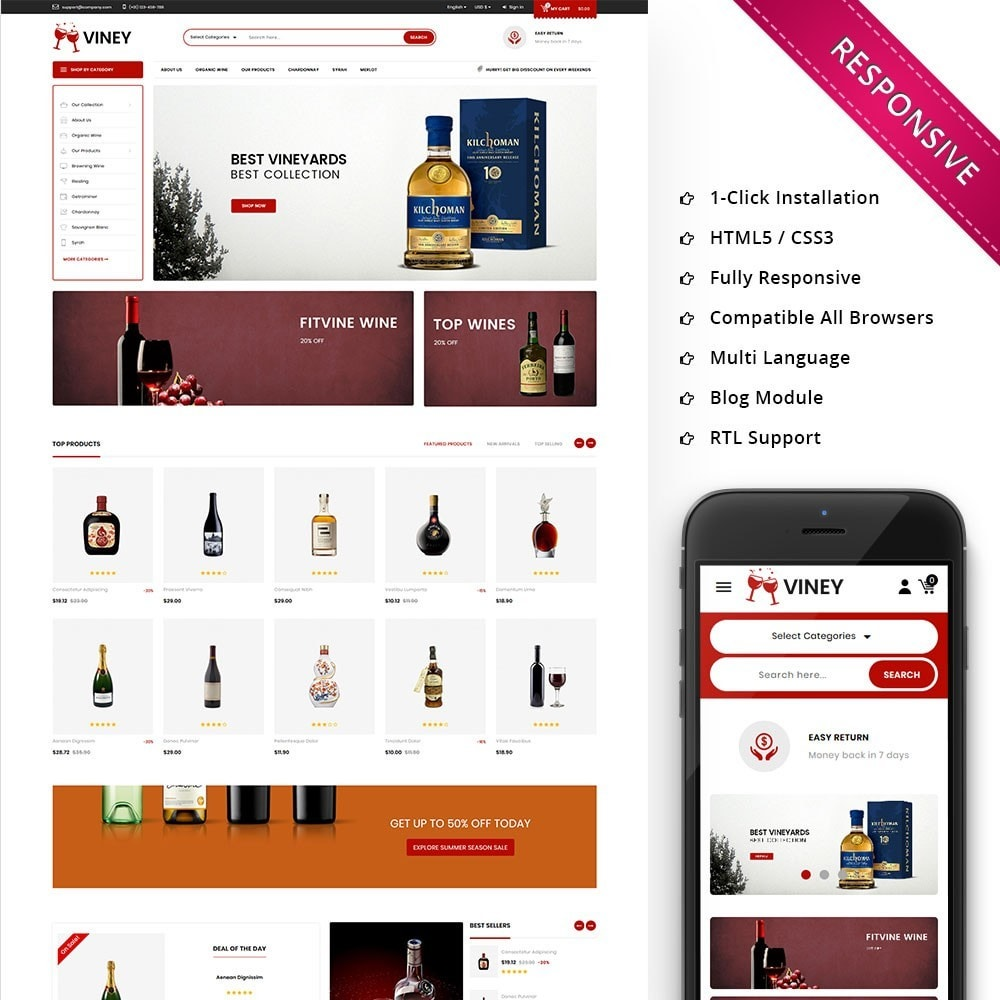 theme - Bebidas y Tabaco - Viney - The Drink Store - 1