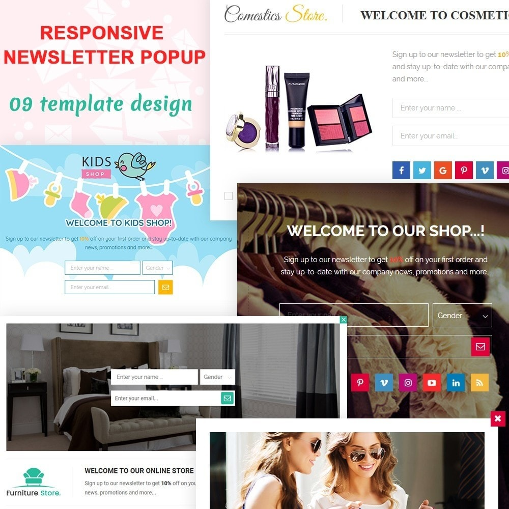 module - Dialoogvensters & Pop-ups - Responsive newsletter popup - 1