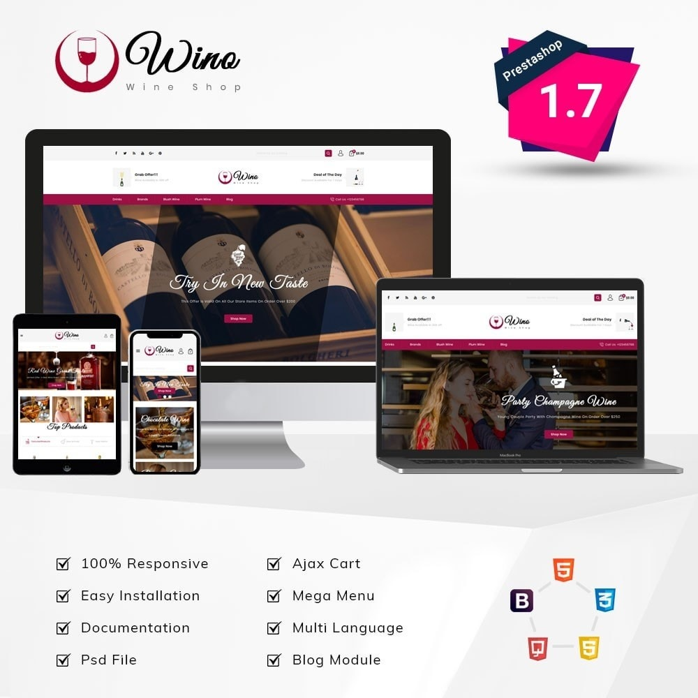 theme - Drink & Wine - Wino Wine Store - 1
