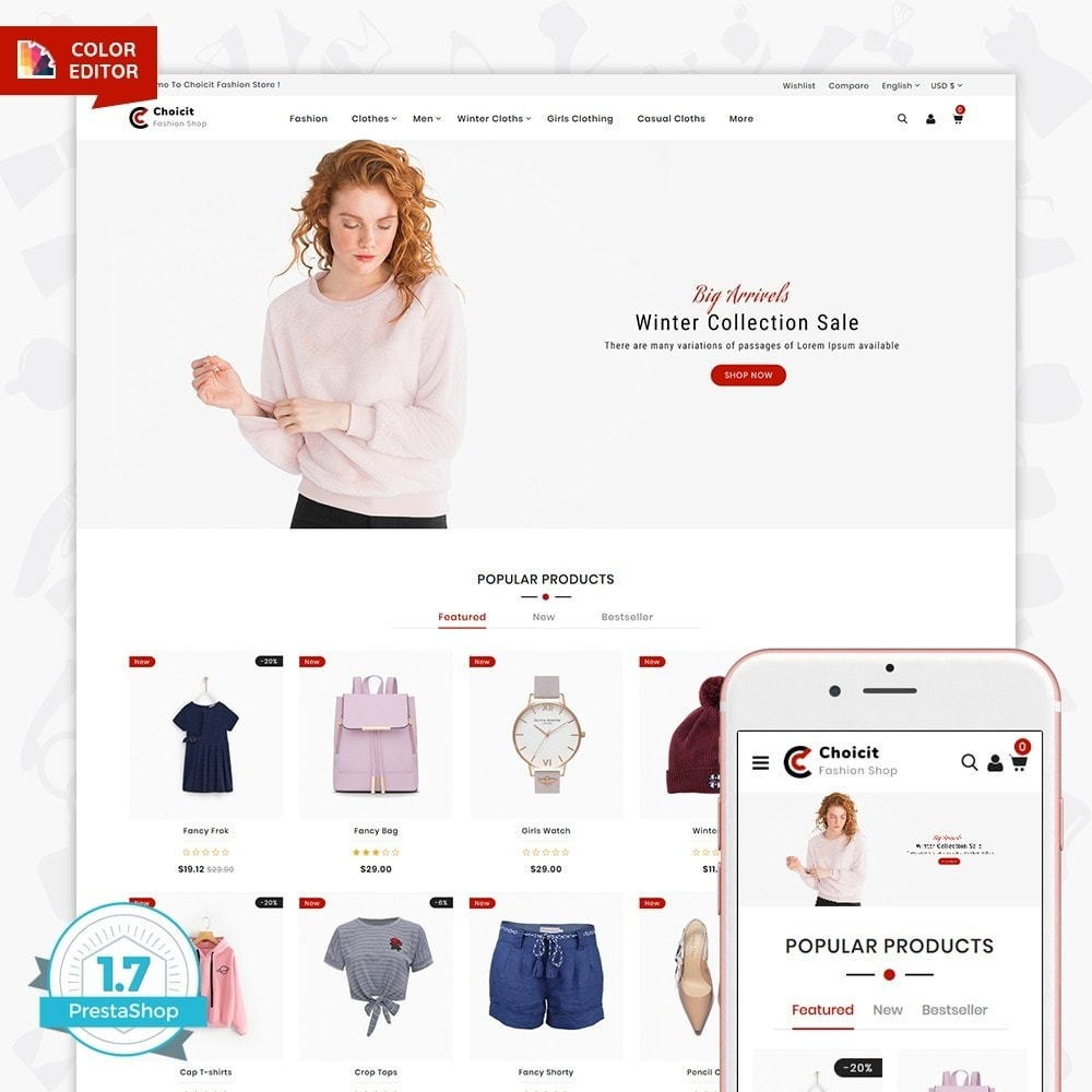 theme - Fashion & Shoes - Choicit  - The Fashion Store - 1