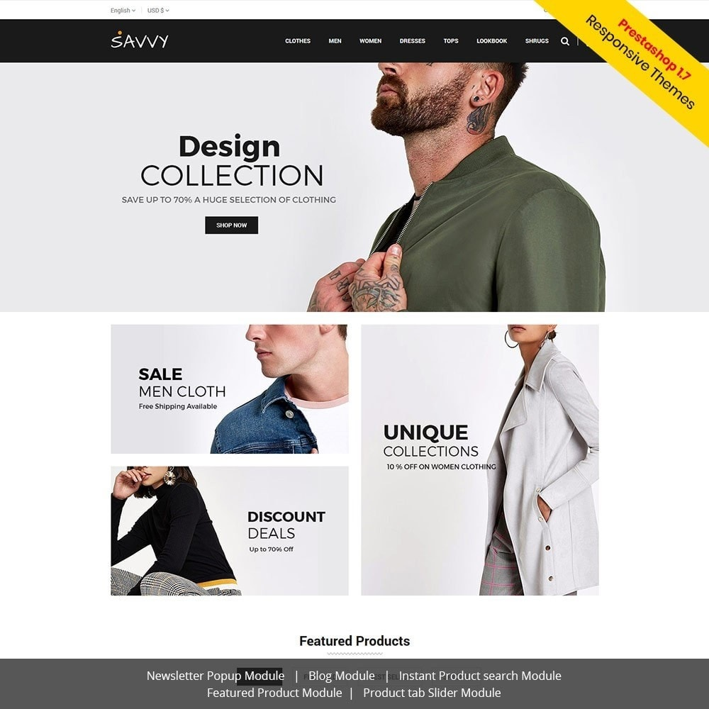 theme - Mode & Chaussures - Savvy Designer - Magasin de mode - 1