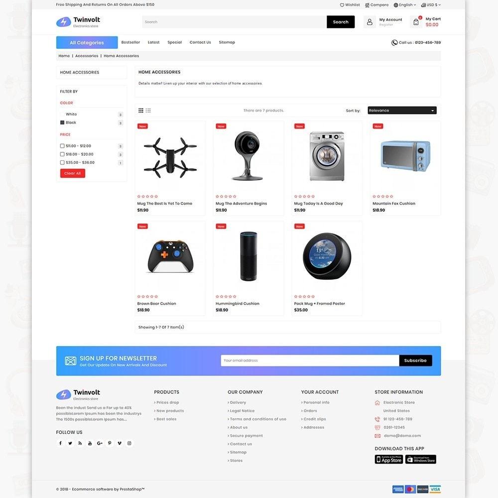 theme - Electrónica e High Tech - Twinvolt - Supermarket Hitech Store - 4