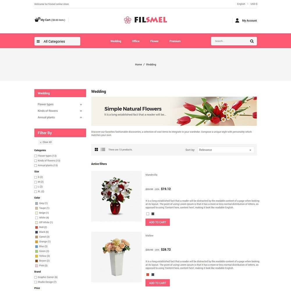 theme - Gifts, Flowers & Celebrations - Fil Smel Gift - Flower Store - 4