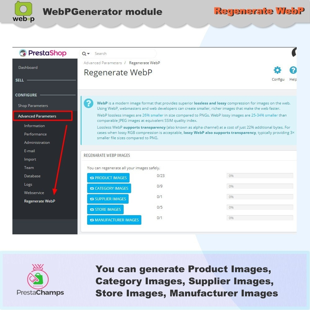 module - Visual Products - Google WebP Image Generator - 2020 Update - 10