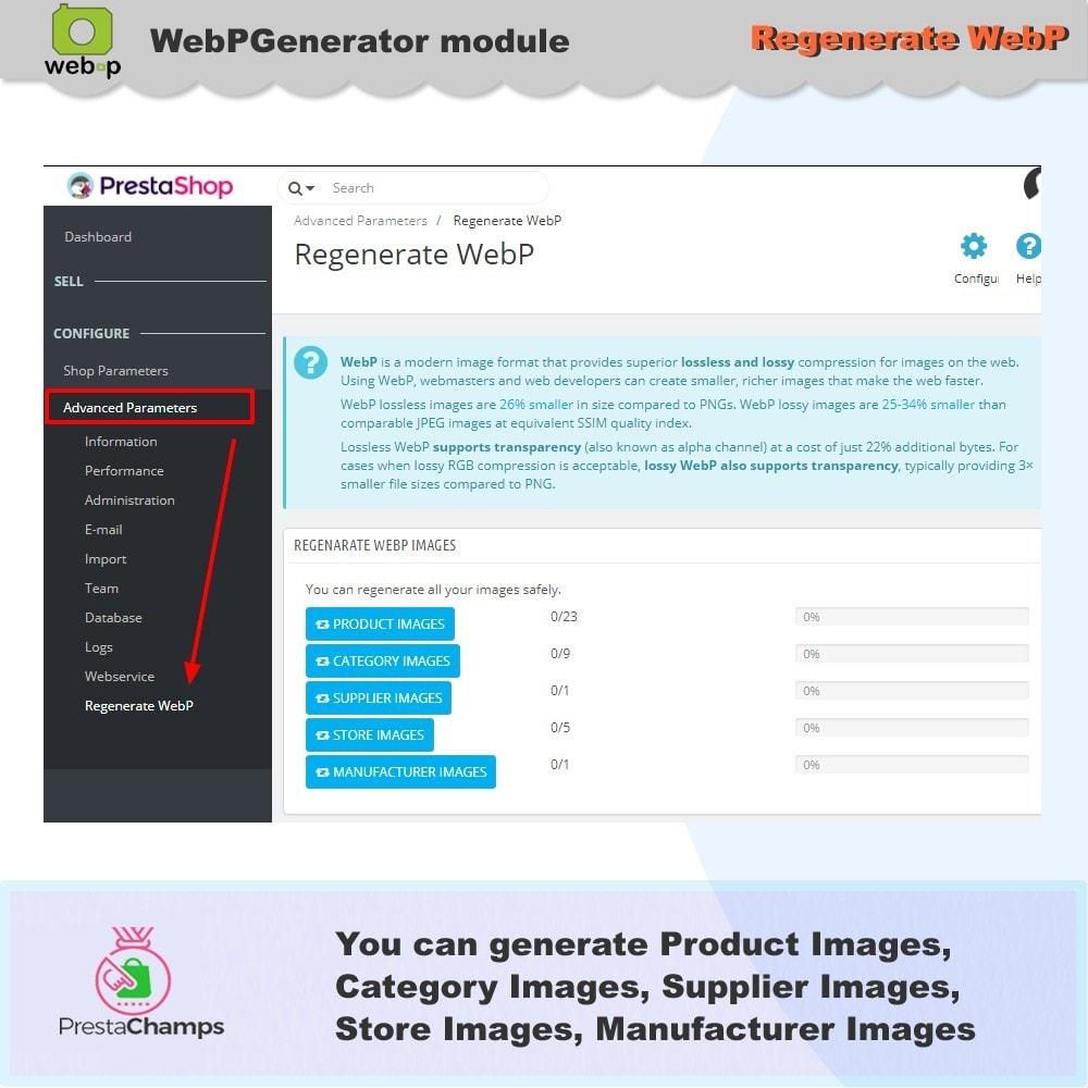 module - Visualizzazione Prodotti - Google WebP Immagine Generatore - 10