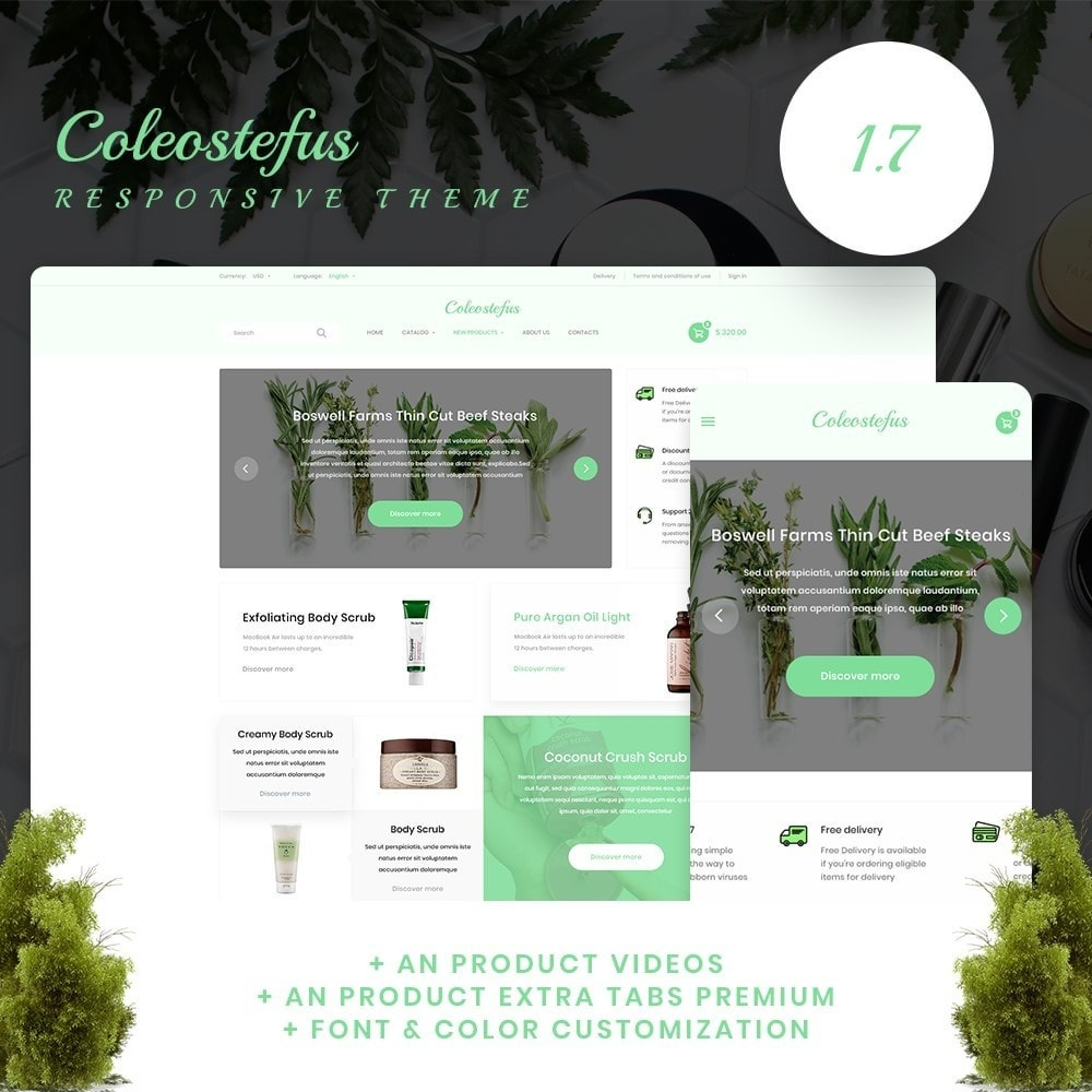 theme - Health & Beauty - Coleostefus Cosmetics - 1