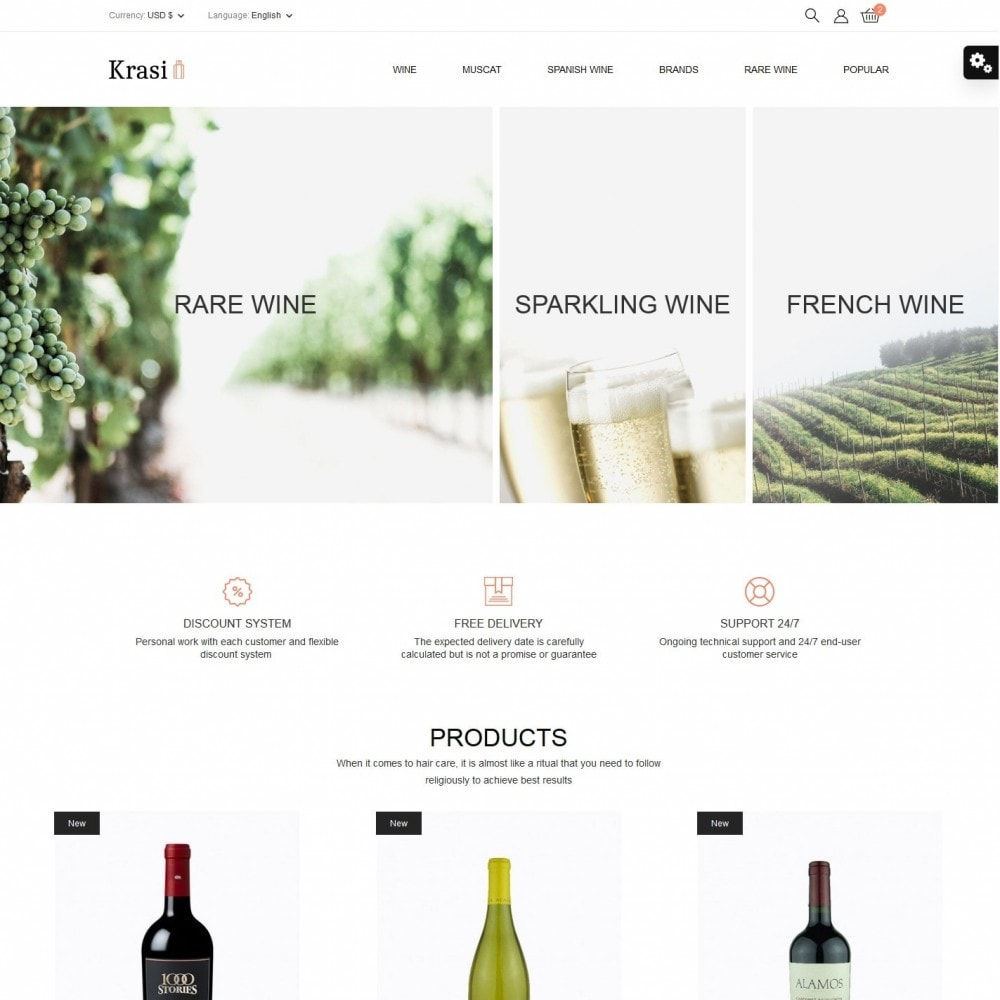 theme - Drink & Tobacco - Krasi Shop - 2