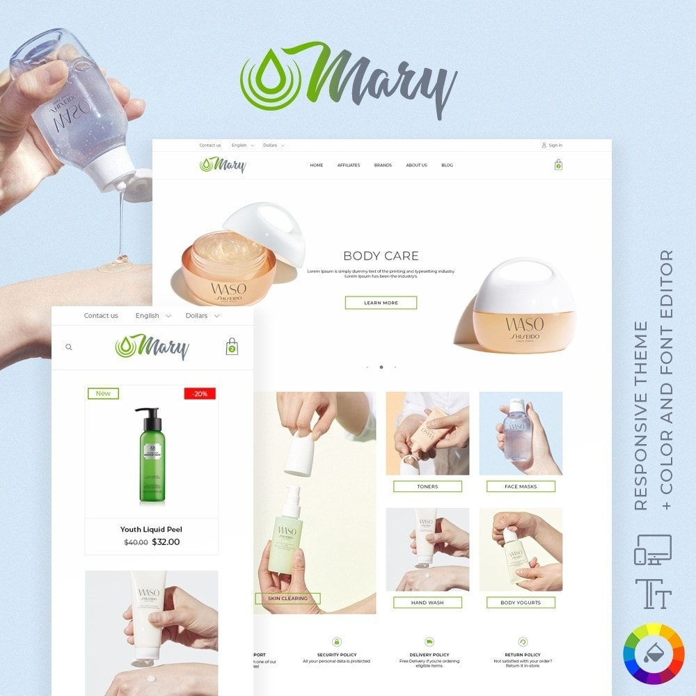 theme - Health & Beauty - Mary Cosmetics - 1