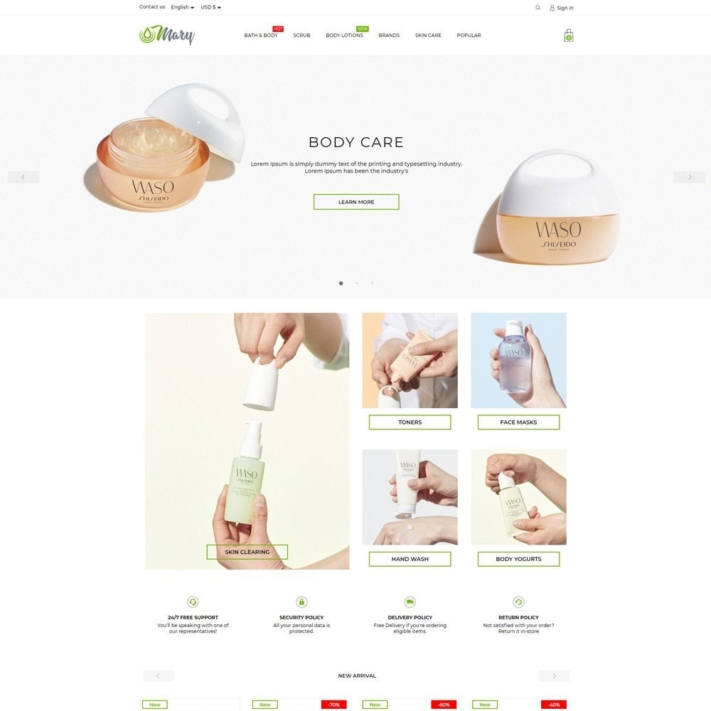 theme - Health & Beauty - Mary Cosmetics - 2