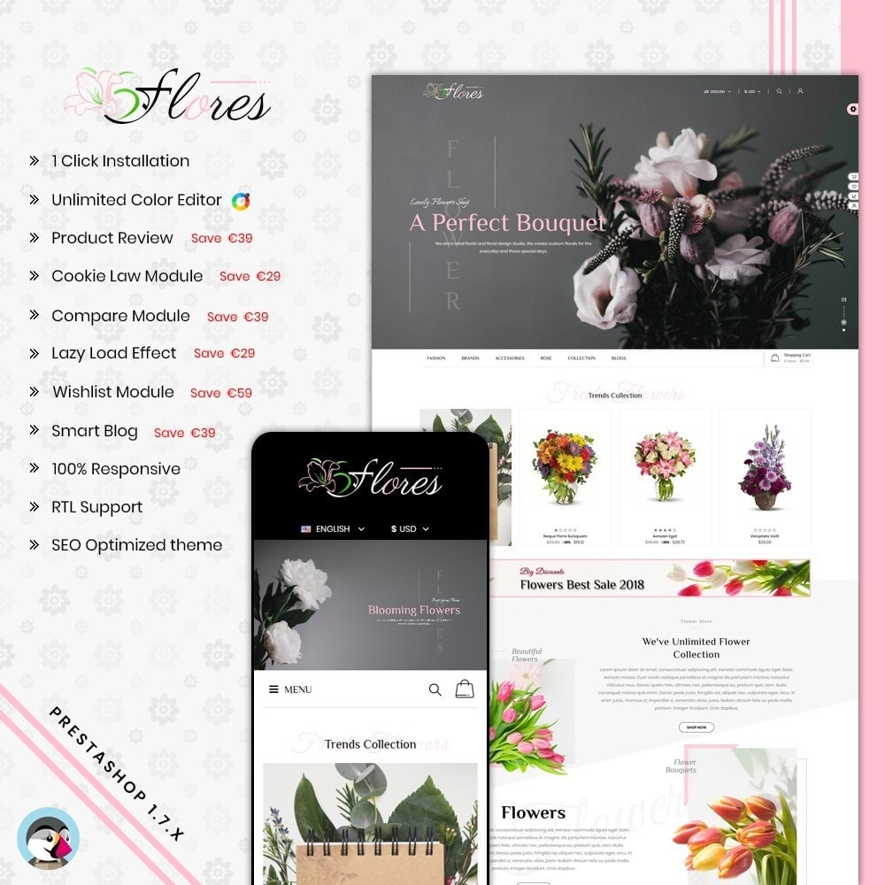 theme - Gifts, Flowers & Celebrations - Flower Gift Store Template - 1
