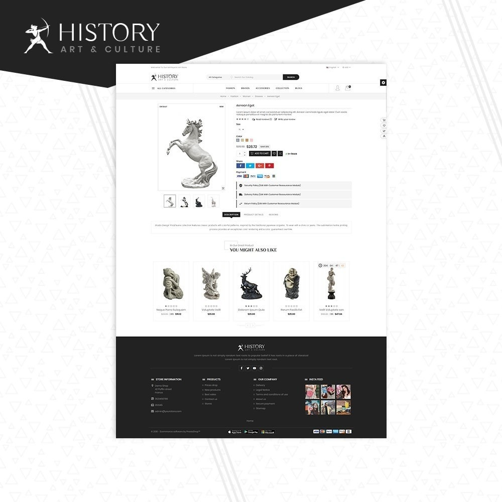 theme - Kultura & Sztuka - Art & Sculpture Store Template - 5