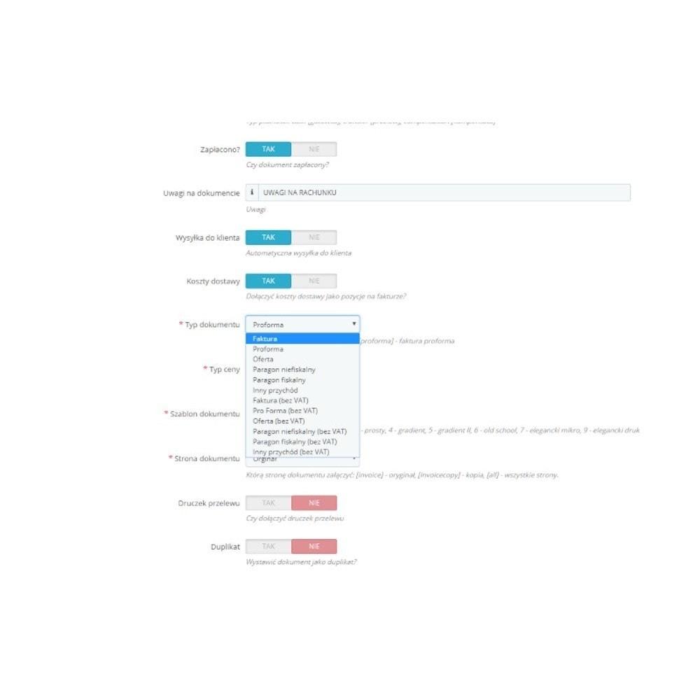 module - Księgowość & Fakturowania - Integracja z Wfirma - 2